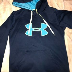 Women's Small Under Armour Blue Hooded Sweatshirt